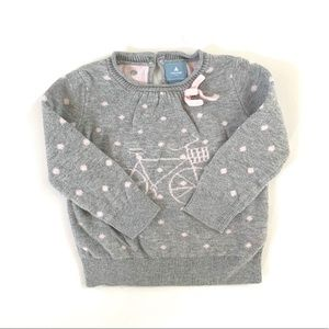 3/$25 Baby GAP Baby Girl Bicycle Sweater
